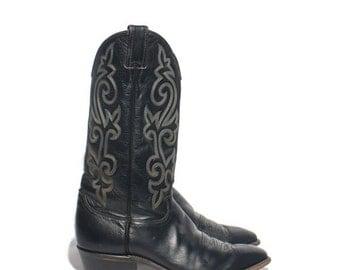 40% off SALE 9 EE | Men's Justin Cowboy Boots Black Western Boots
