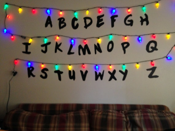 Stranger Things Alphabet Removable Wall Letters