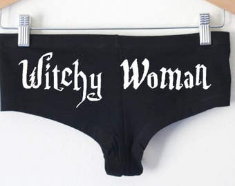Witchy Woman Undies - Underwear Made in USA by So Effing Cute - Inspired by the witches of Harry Potter