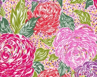 "Liberty Tana Lawn KATE ADA - 17"" wide x 13"" (43cm x 33cm) - pink, red, purple"