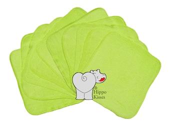 Baby Washcloths Light Green 10 Pack
