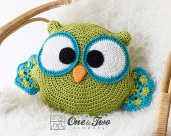 Ollie the Owl Pillow - PDF Crochet Pattern - Instant Download - Forest Owl Pillow