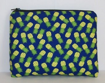 """Pipe Pouch, Pineapple Bag, Pipe Case, Pipe Bag, Padded Pipe Pouch, Fruit Bag, Cute Bag, Hippie Gift, Padded Zipper Bag , 7.5"""" x 6"""" - X LARGE"""