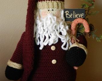 Crocheted Santa/Country/Primitive Decor