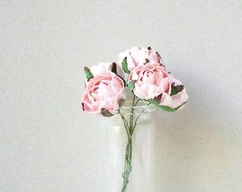 30  mm   / 5    Pink Paper  Rosebuds