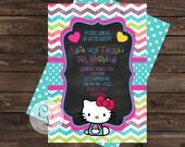 Hello Kitty Birthday Party Invitation, Hello Kitty Invite, Casbury Lane