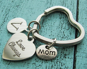Mothers day gift, foster mom gift keychain, stepmom birthday gift, under 20, mother of the bride gift, mother in law gift, wedding gift