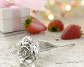 12th Anniversary Gift Everlasting Rose - 12 Year Anniversary Gift Idea