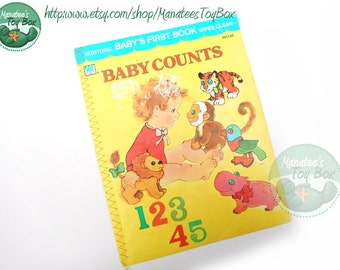 Vintage Counting Book: Baby Counts Whitman Baby's First Book Wipes Clean 1970s
