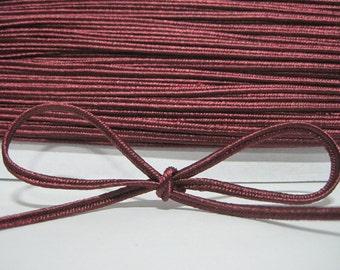 5 yards 3 mm Burgundy Soutache Braid,Braided cord, soutache cord, soutache braided, jewelry making cord, red cord, red braided cord,dark red