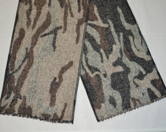 gift for him outdoorsman hunter fisherman CAMO Camouflage handmade of wool SCARF warm wool boyfriend gift fathers day gift