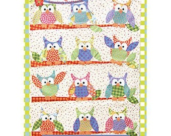 Okey Dokey Owl and Friends Applique Quilt Pattern by Jennifer Jangles, great for Kids Quilts