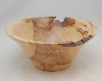 Handmade Natural Spalted Maple Bowl