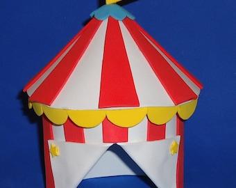 Foam Mega Sized Big Top Circus Tent Cake Topper & Foam Big Top Circus Tent Cake Topper