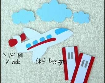 Die Cut Airplane Travel Vacation Premade Paper Piecing Embellishment for Card Making Scrapbook or Paper Crafts
