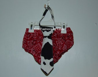 Cow Diaper Cover and Red Bandana Diaper Cover (Woody Inspired)