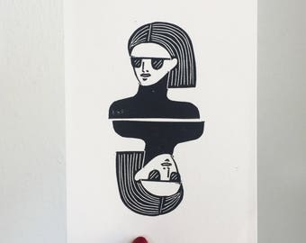 Two-Headed Babe Blockprint