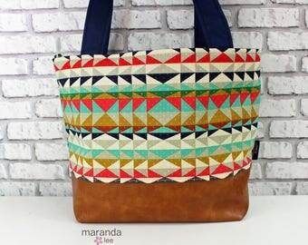 Lulu Medium Tote  Bag Overlook and PU Leather  READY to SHIp Purse 3 pockets Handbag