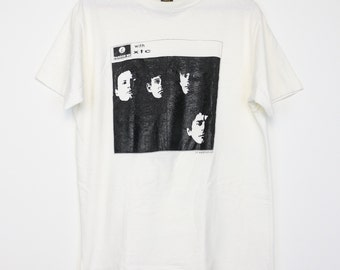 XTC Shirt Vintage tshirt 1970s Beatles Parody tee Terry Chambers Andy Partridge Colin Moulding Dave Gregory Psychedelic Pop Rock Music 70s