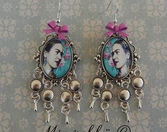 Earrings bohemia gypsy frida kahlo
