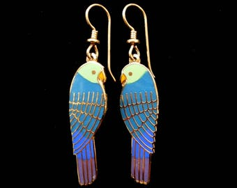 "LAUREL BURCH ""Lorikeets"" Earrings Excellent Condition!"