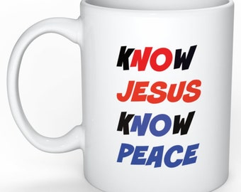 Mug with Jesus and Message for Peace