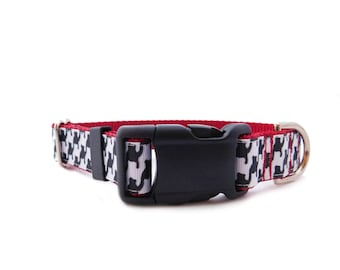 Houndstooth Dog Collar, Preppy Dog Collar, Designer Collar*