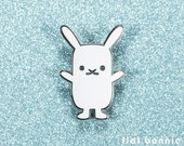 Rabbit enamel pin, Bunny enamel pin, Kawaii backpack pin, Cute animal lover gift, Hard enamel jacket pin rabbit jewelry, Flat Bonnie