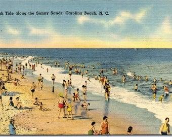 Carolina Beach, North Carolina, Beach, Sands - Linen Postcard - Postcard - Unused (UUU)