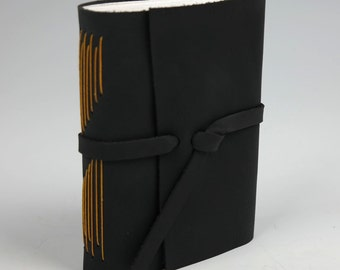 "Blank Leather Journal / Sketchbook / Notebook - 4"" x 5"""