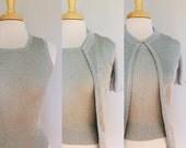 Silver Lurex Twinset // Baar & Beards Metallic Sweater Set // Sparkle Tank and Cardigan