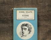 VIntage poetry book Poems by John Keats