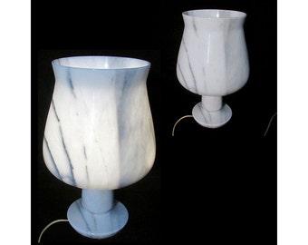 Mid Century Modern  designer decor Tulip design Alabaster table lamp