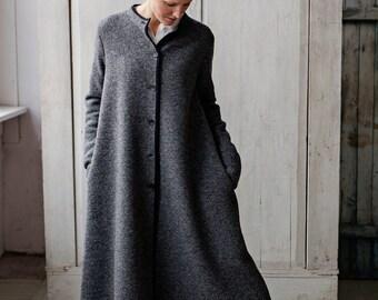 Long Coat, Wool Coat, Winter Coat, Womens Coats, Gray Sweater Coat, Wool Cape Coat, Overcoat, Gray Coat, Wool Jacket Coat Long Cardigan Coat