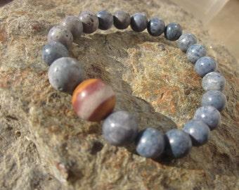 blue Coral and Wonderstone Rhyolite Bracelet: save yourself