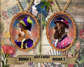 English Cocker Spaniel Jewelry.Cocker Spaniel Pendant or Brooch.Cocker Spaniel Necklace.Cocker Spaniel Portrait.Custom Dog Jewelry.Handmade