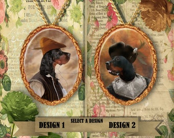 Gordon Setter Jewelry. SETTER Pendant or Brooch. SETTER Necklace. SETTER Portrait. Custom Dog Jewelry by Nobility Dogs. Dog Handmade Jewelry