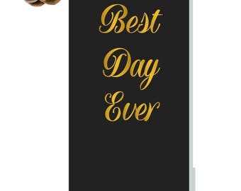 Best Day Ever Journal | Wedding Journal | Pocket Journal | Monogram Bridesmaid Gift | Bridesmaid Journal | BFF Gifts | Maid of Honor | Bride