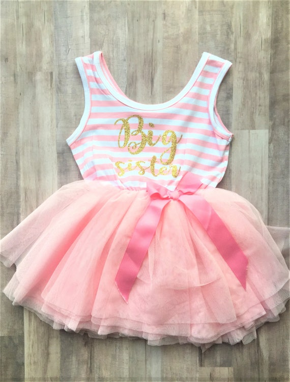 foto de Big Sister Tutu Dress / Custom Sister Dress Custom Birthday