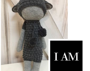Handmade Crochet Black Sheep 100% Wool