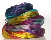 Pearl 12, Hand Dyed Pearl Cotton, mini skein, embroidery thread, tatting thread, crochet cotton, Perle cotton, quilting thread, needlepoint