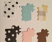50 COW  paper Punches, confetti, you choose white with black dots, black with white dots, tans and white, pink,blue, brown, scrapbooking