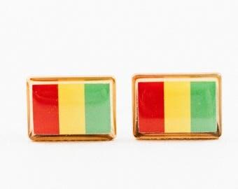 Guinea Flag Cufflinks