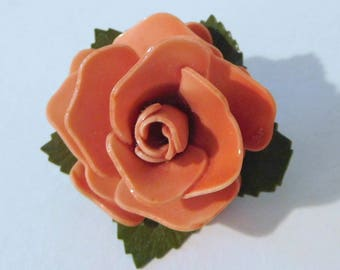 "Vintage ROSE BLOSSOM BUD Flower Pin Brooch Jewelry - Small 1-1/4"" - Lovely"