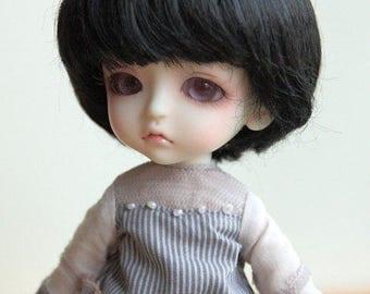 "Dollfie Lati Yellow Pukifee 14cm black bob wig 5~6"""