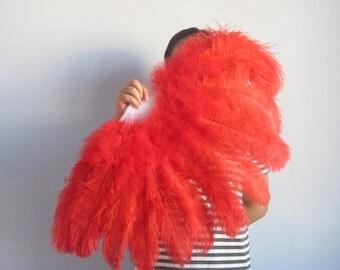 80*45cm Large   Burlesque Dance  feather fan Bridal Bouquet red, turquoise,Royal Blue,white,black