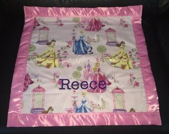 Disney Princess Cotton/Fleece Blanket 22x22 Personalized