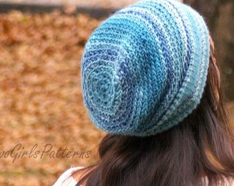 Versatile Reversible Hat Crochet Pattern - baby toddler child adult sizes included kc550