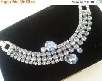 On Sale Stunning Rhinestone Bracelet 1950's Hollywood Regency Mad Men Mod 60's Style Retro Collectible Jewelry