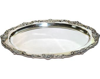 Large Silver Tray Etsy